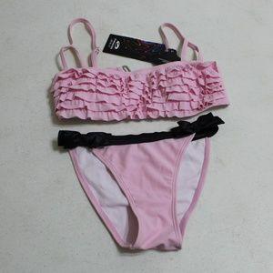BRAND NEW Pink and Black Swim Suit Bikini